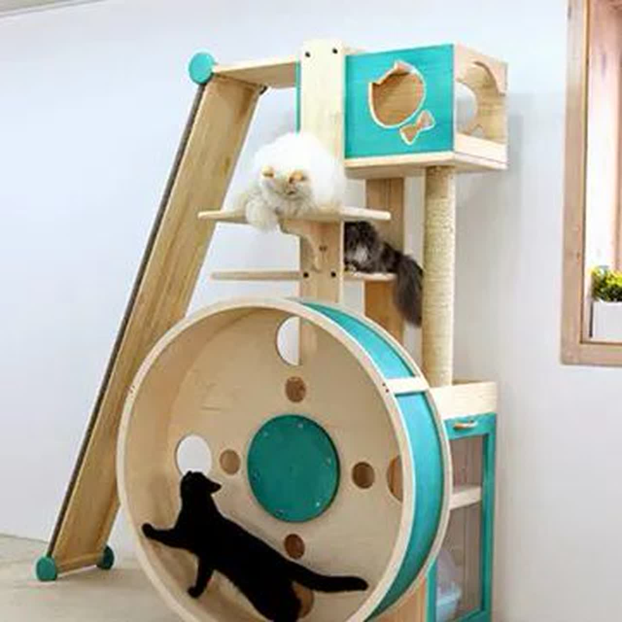 free cat tree plans illustration